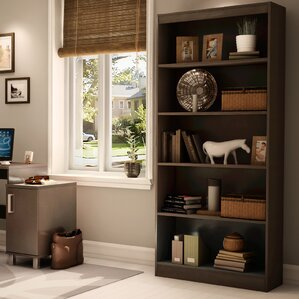 cherry bookcases - bookcases | wayfair