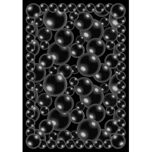 Best Reviews Bubbles Black Area Rug By The Conestoga Trading Co.