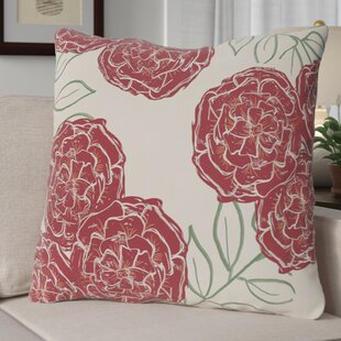 Broad Brook Mums the Word Floral Print Outdoor Pillow