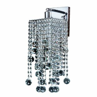 Cohen-Arazi Crystal Square 1-Light Armed Sconce by Everly Quinn