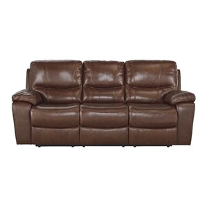 Boehme Leather Reclining Sofa by Red Barrel ..