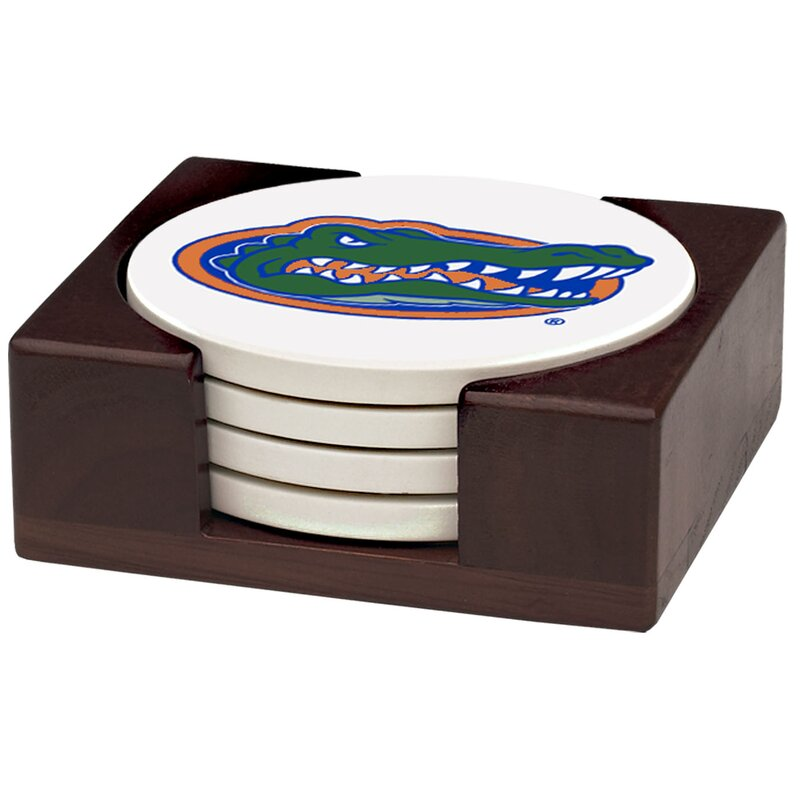 Thirstystone University Of Florida Collegiate Gift Set 5 Piece Coaster Set With Holder