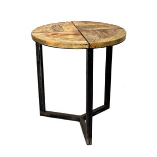 Asaro Disstressed End Table by Loon Peak Top Reviews