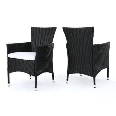Carmack Patio Dining Chair with Cushion by Brayden Studio