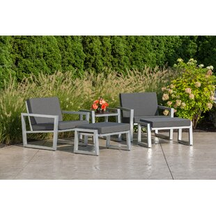 Vero 5 Piece Sunbrella Conversation Set with Cushions