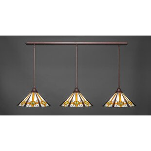 Red Barrel Studio Bayside 3-Light Kitchen Island Pendant