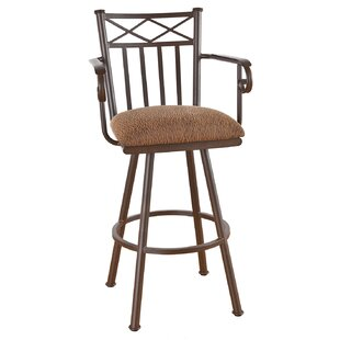Hoye 30 Swivel Bar Stool Red Barrel Studio
