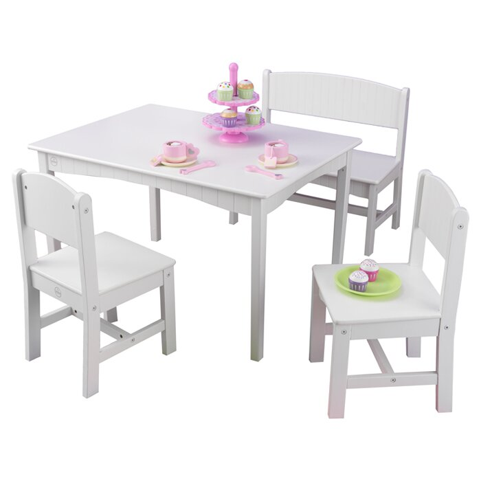 Nantucket Kids 4 Piece Table And Chair Set Amp Reviews