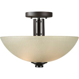 Vanzandt 2-Light Semi Flush Mount by Winston Porter