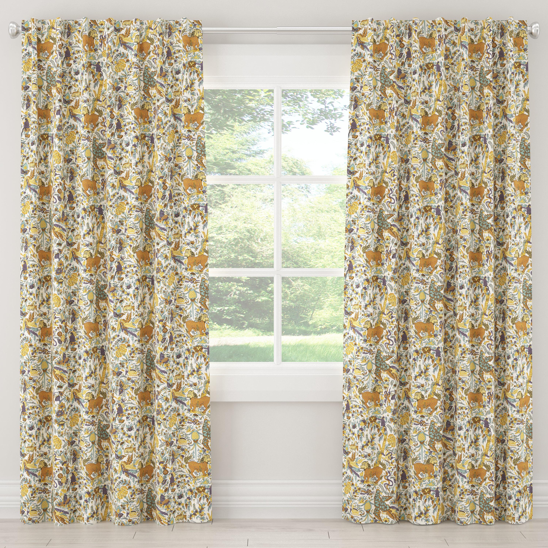 Swindle Toile Single Curtain Panel