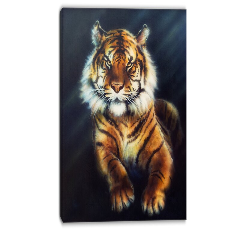 Designart Mighty Tiger Animal Graphic Art On Wrapped Canvas Wayfair