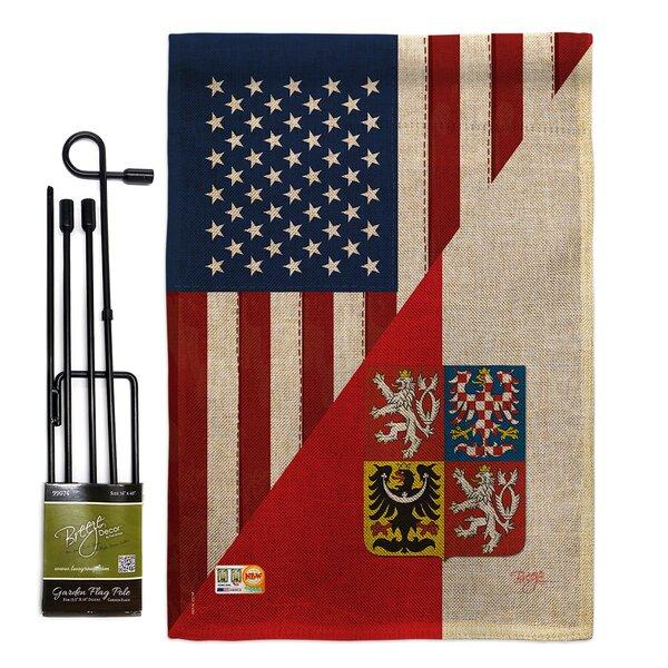 Breeze Decor American Czech Friendship The World Impressions 2 Sided Burlap 19 X 13 In Flag Set Wayfair