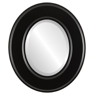 Charlton Home Woodley Framed Oval Accent Mirror