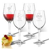Tritan Golf 4-Piece 12 oz. Plastic All Purpose Wine Glass Set by Carved Solutions