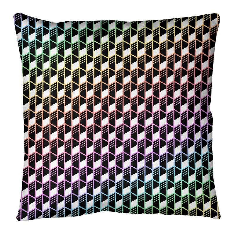 East Urban Home Mcguigan Geometric Stripes Floor Pillow Wayfair