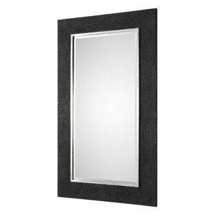 Orren Ellis Rectangle Textured Accent Mirror