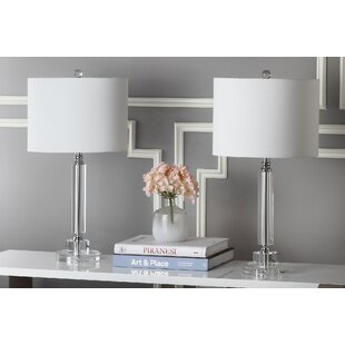 Compare Deco Column 24.5 Table Lamp (Set of 2) By Safavieh