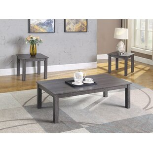 Winston Porter Somersby 3 Piece Coffee Table Set