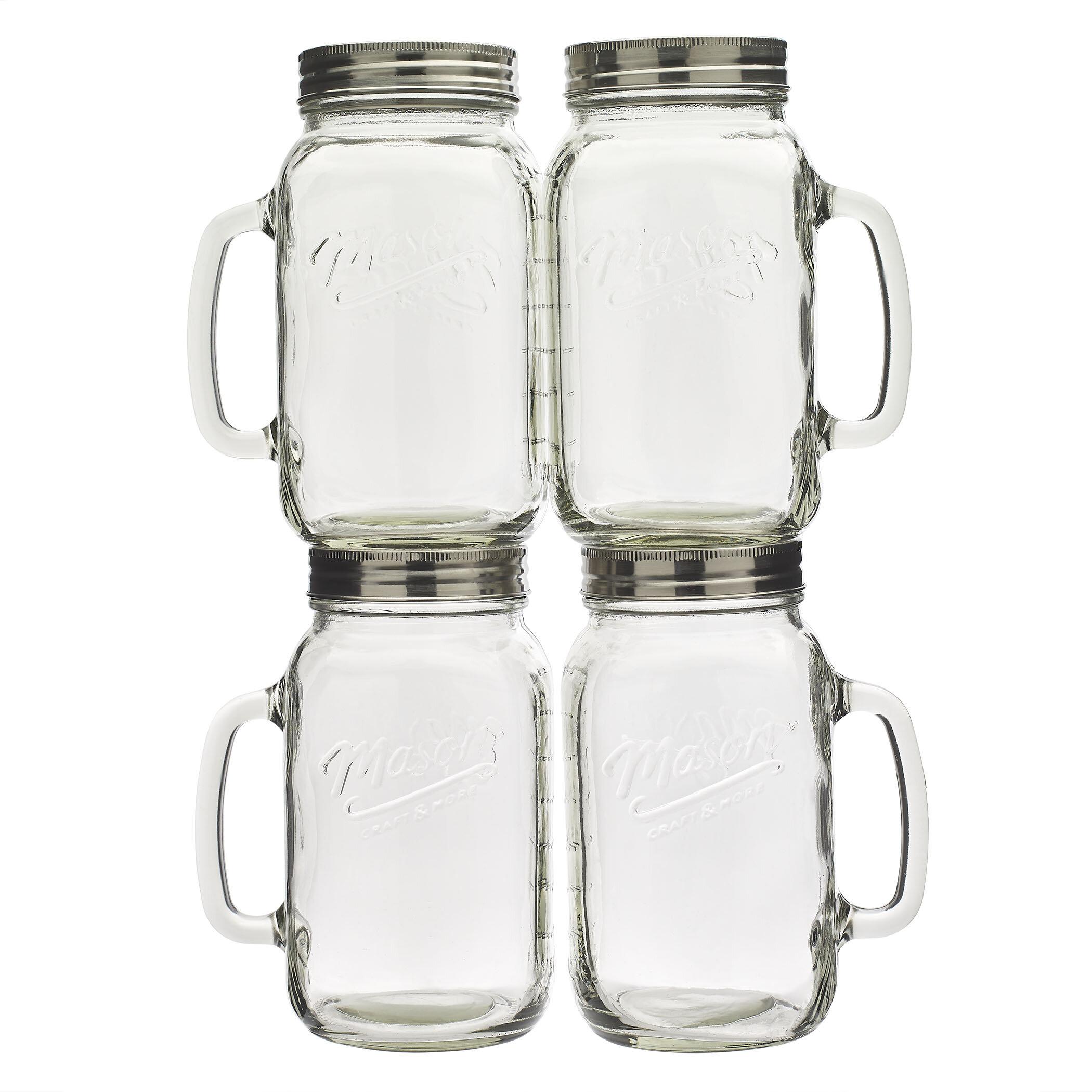 4 piece 32 oz mason jar set