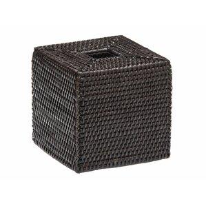 Sylvia Square Rattan Tissue Box Cover