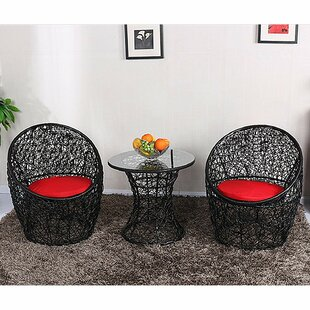 Eilish 3 Piece Rattan 2 Person Seating Group