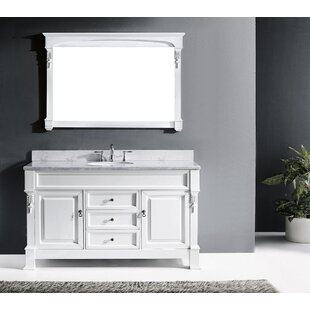 Inexpensive Maison 60 Single Bathroom Vanity Set with Mirror ByDarby Home Co