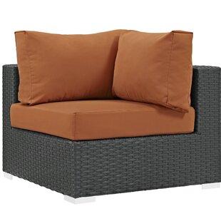 Brayden Studio Tripp Corner Chair with Cu..