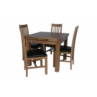 Pecora 5 Piece Extendable Dining Set