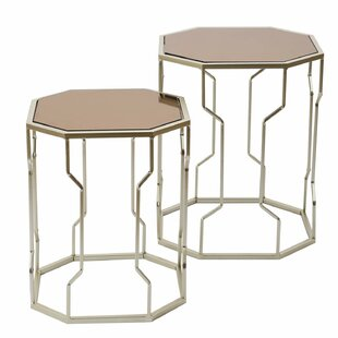 Buddy Decorative Round 2 Piece Nesting Tables