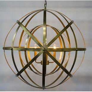 Noir 4-Light Globe Chandelier