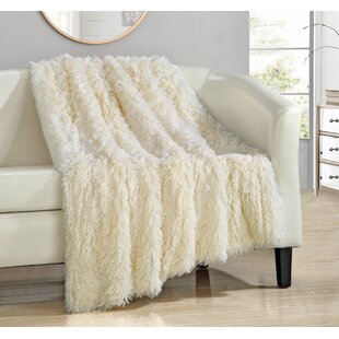 Kostya Shaggy Faux Fur Supersoft Ultra Plush Decorative Throw Blanket