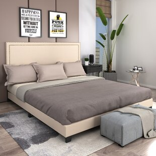 Abishake King Upholstered Low Profile Platform Bed