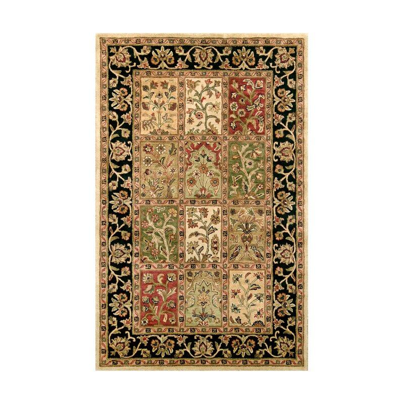 Astoria Grand Tengan Oriental Handmade Tufted Wool Brown Black Red Area Rug Wayfair