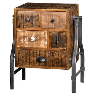 Millwood Pines Colt Wooden 5 Drawer Night..