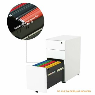 Price comparison Kern 3-Drawer Mobile Vertical Filing Cabinet by Rebrilliant