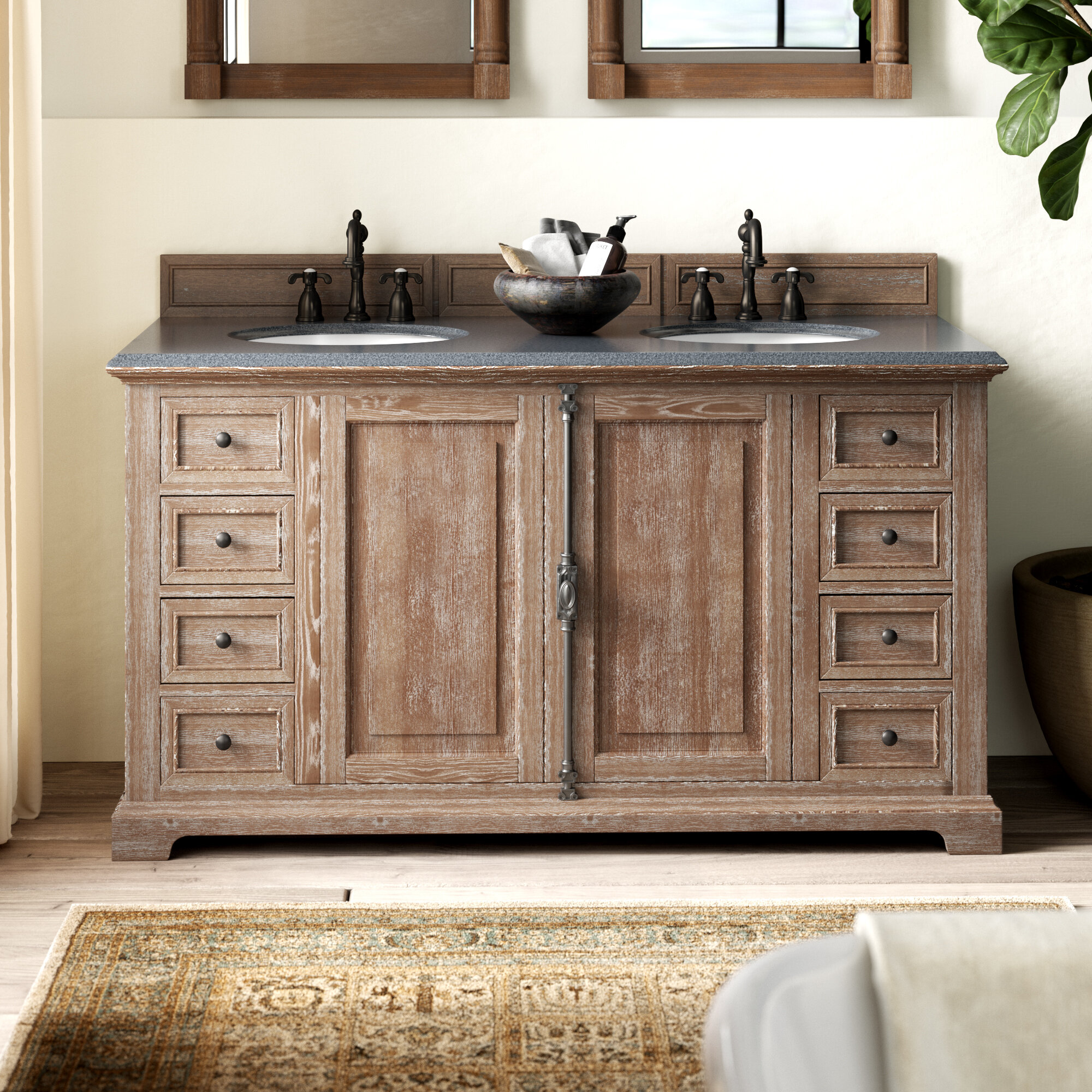 Greyleigh Ogallala 60 Double Cabinet Vanity Base Only Reviews Wayfair