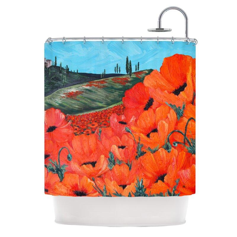Delightful Poppies Shower Curtain