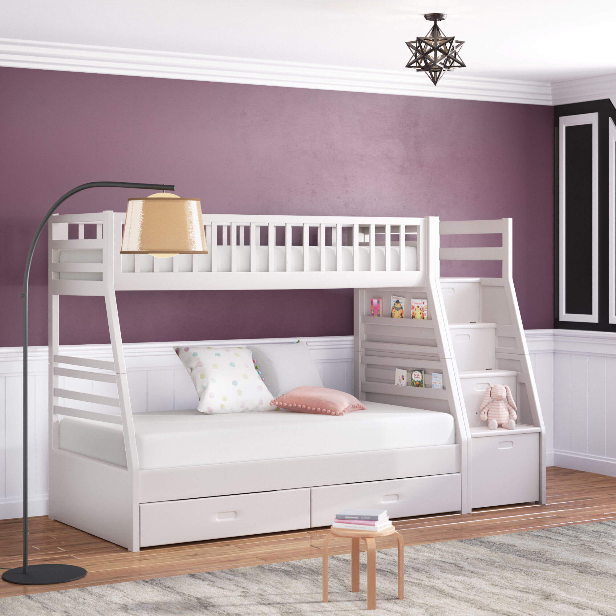 Viv + Rae Pierre Twin Over Full Bunk Bed with Drawers & Reviews ...