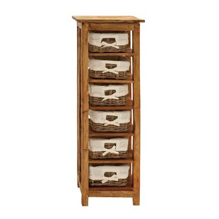 Loon Peak Hartshorne Storage Unit with Shelve and Warm Basket 6 Drawer Chest
