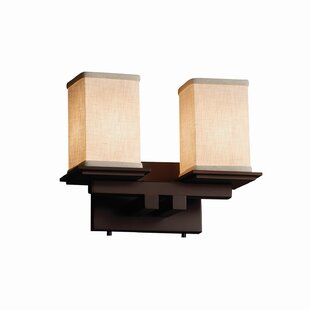 Latitude Run Red Hook Modern 2 Light Square w/ Flat Rim Vanity Light