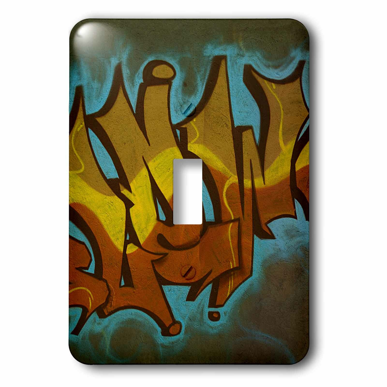 3drose Part Of Graffiti 1 Gang Toggle Light Switch Wall Plate Wayfair