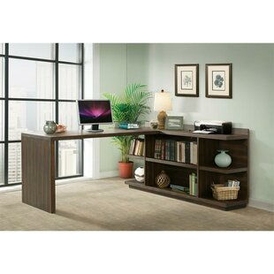 Arbyrd Return Desk with Bookcase Greyleigh