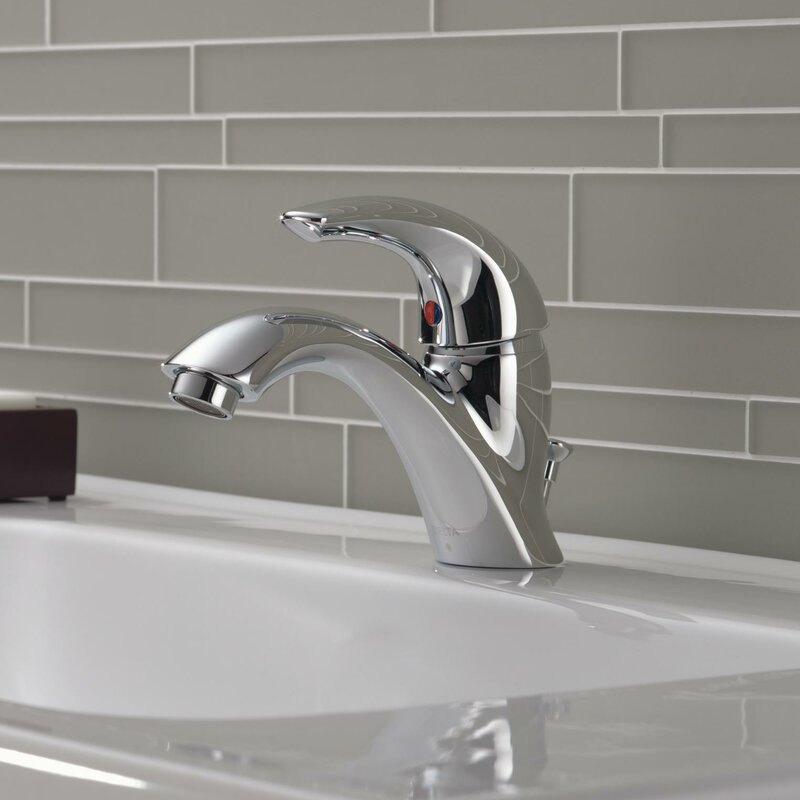 C Spout Series Single Hole Bathroom Faucet With