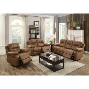 Summerall Reclining Manual 3 Piece Living Room Set by Red Barrel Studio