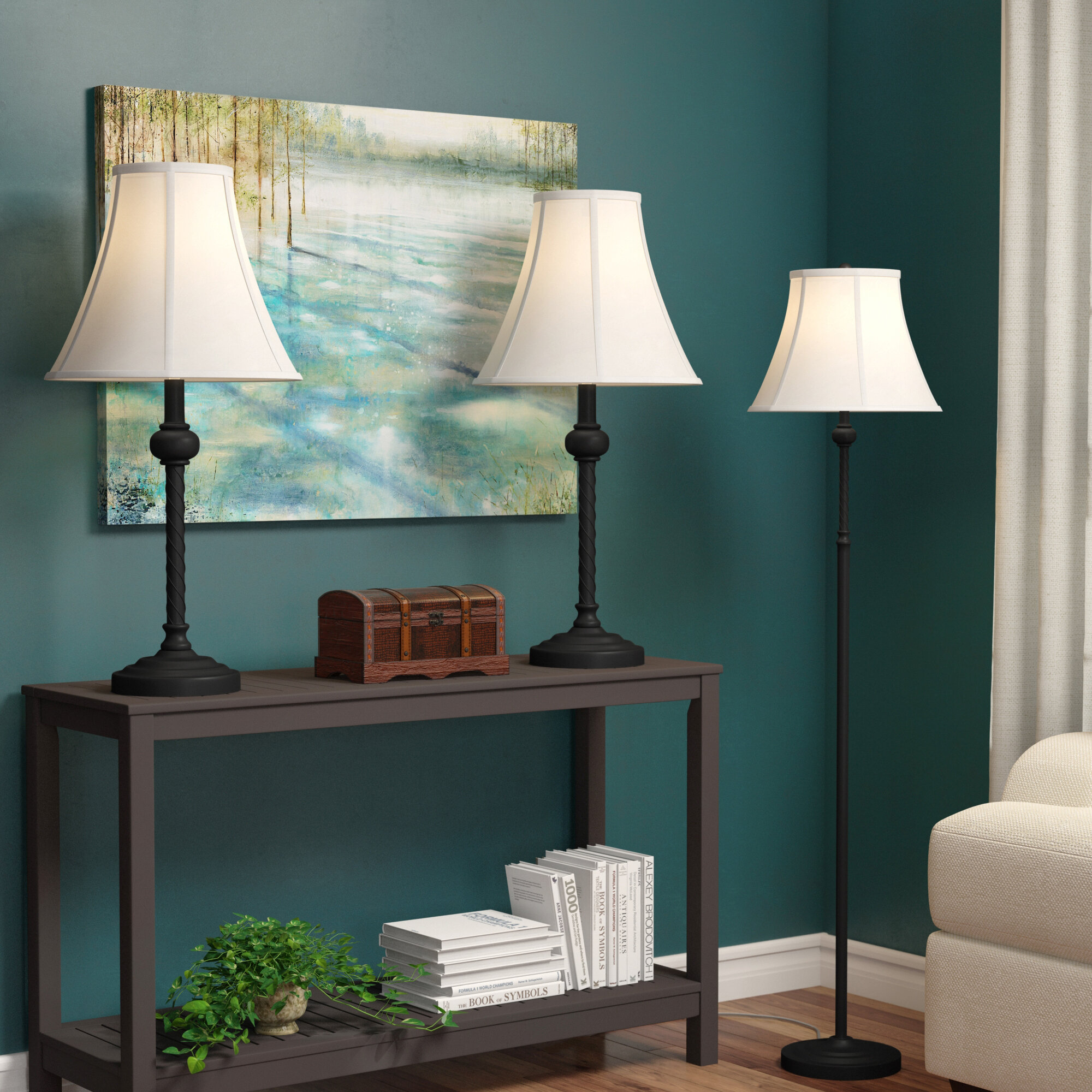 Astoria Grand Quenby 3 Piece Table And Floor Lamp Set Reviews