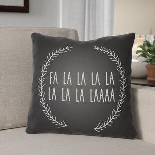 Fa La La Indoor/Outdoor Throw Pillow