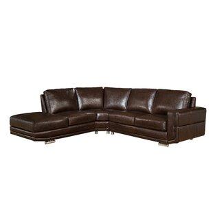 Orren Ellis Haverville Leather Sectional