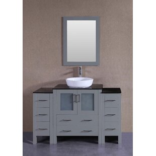 Belarus 54 Single Bathroom Vanity Set with Mirror by Bosconi