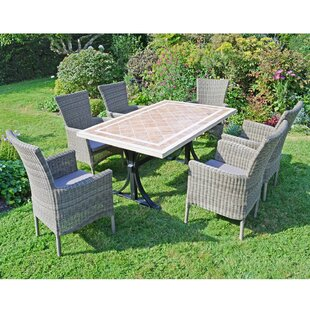 Kianna 6 Seater Dining Set With Cushions By Sol 72 Outdoor