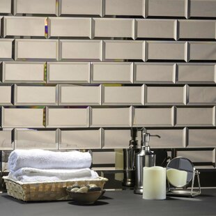 Beveled Mirrored Floor Tiles Wall Tiles You Ll Love In 2020 Wayfair